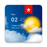 Transparent clock weather (Ad-free) 1.98.05 icon