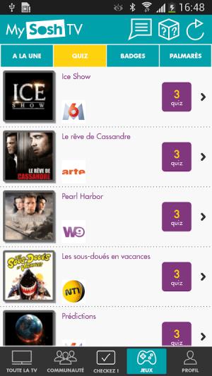 Android MySoshTV Programme TV Screen 3