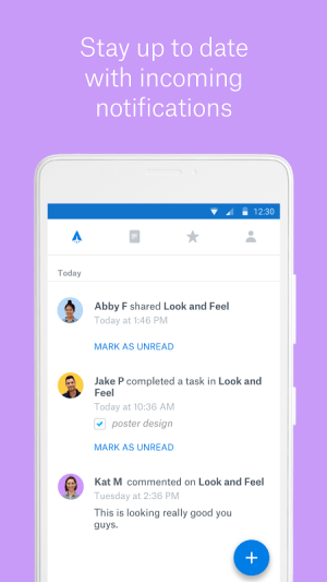 Android Dropbox Paper Screen 1