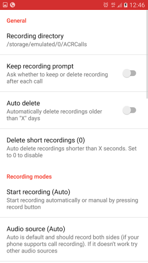 Android Call Recorder - ACR Screen 7