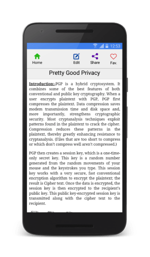 Cryptography 5.4 Screen 5