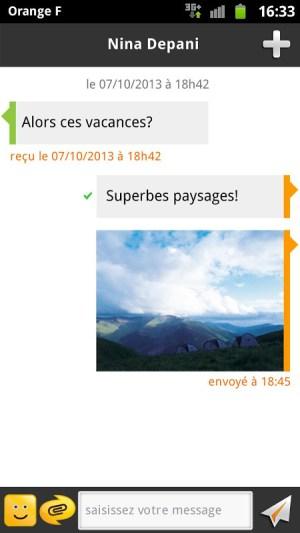 Android joyn by Orange Screen 3