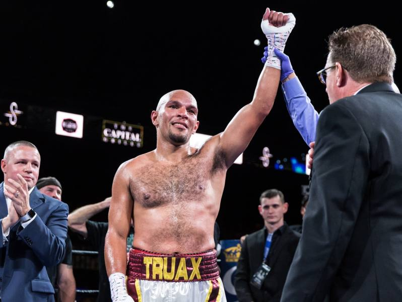 Photos  A night of boxing at the Armory in Minneapolis   MPR News 8 The referee raises Minnesota boxer Caleb Truax s hand in the air after  Truax defeated Fabiano Pena during the Premier Boxing Champions event at  the Armory