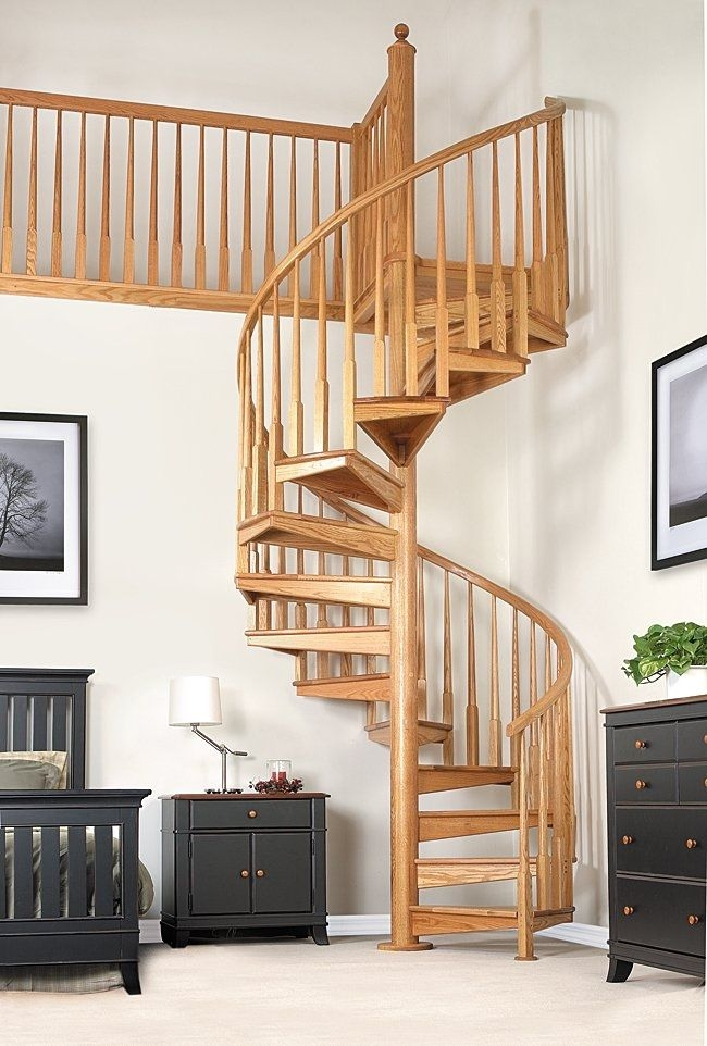 Spiral Staircase W 1B Salter Spiral Stair Wooden Frame | Spiral Staircase Wooden Steps | 2 Floor | Traditional | Enclosed | Kid Friendly | Solid