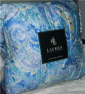 Ralph Lauren Jamaica Blue Paisley Queen Comforter New Ebay