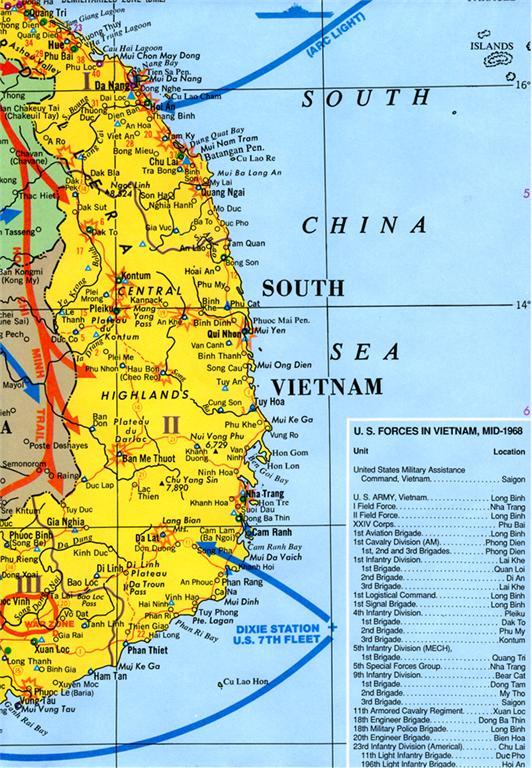 Map Vietnam During War