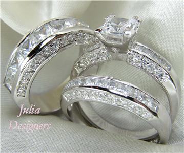 His   Her Matching Engagement Wedding Ring Set  Sz 6   eBay Categories  His Hers Engage Wedding 4p Set      Mens Women Engagement Wedding
