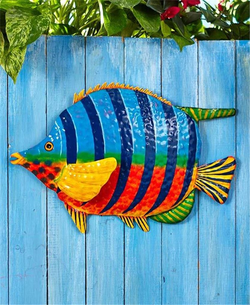 Wall Large Metal Art Outdoor Tropical