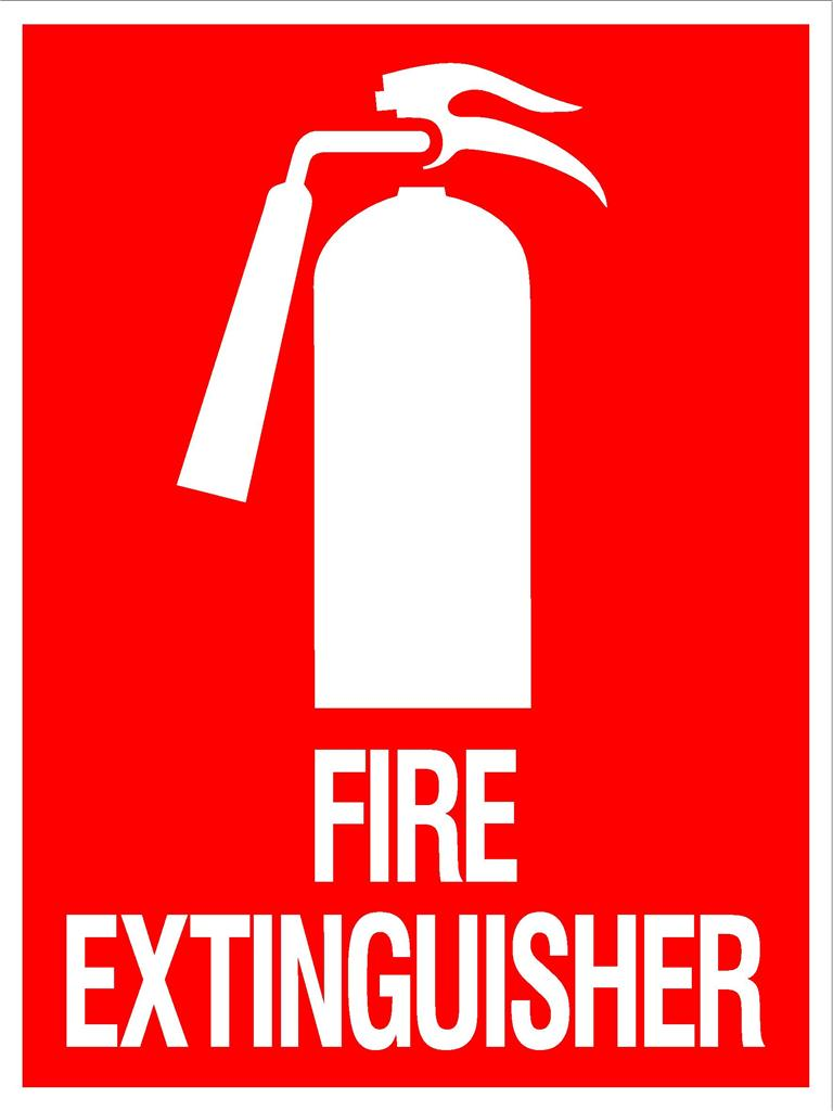 FIRE EXTINGUISHER SIGN - 300 X 225MM - METAL SIGN ...