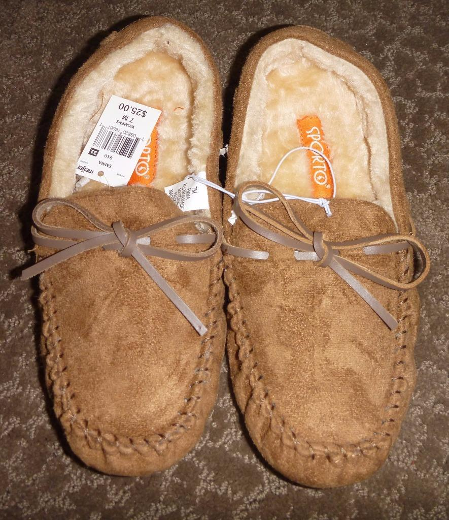 Womens SPORTO Moccasin Slippers House Shoes Size 6 7 8 9 ...