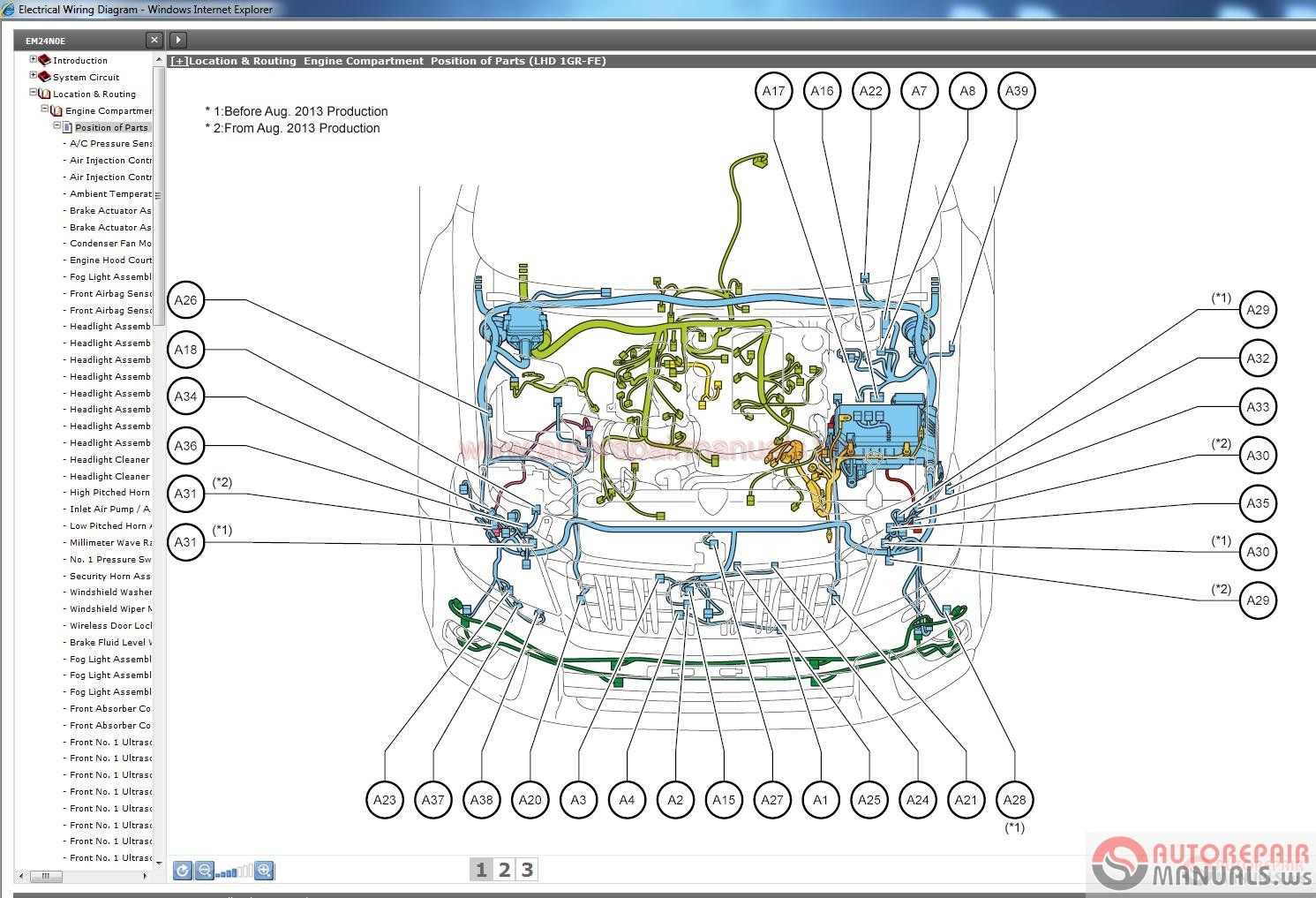 Toyota Highlander Engine Cooling Diagrams 1gr Fe Diagram