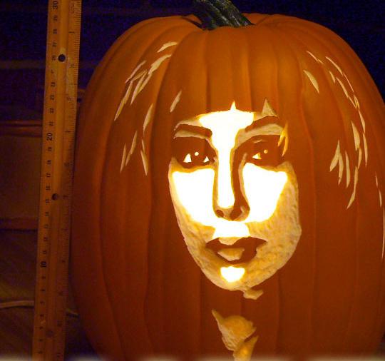 Miley Cyrus Pumpkin Stencil