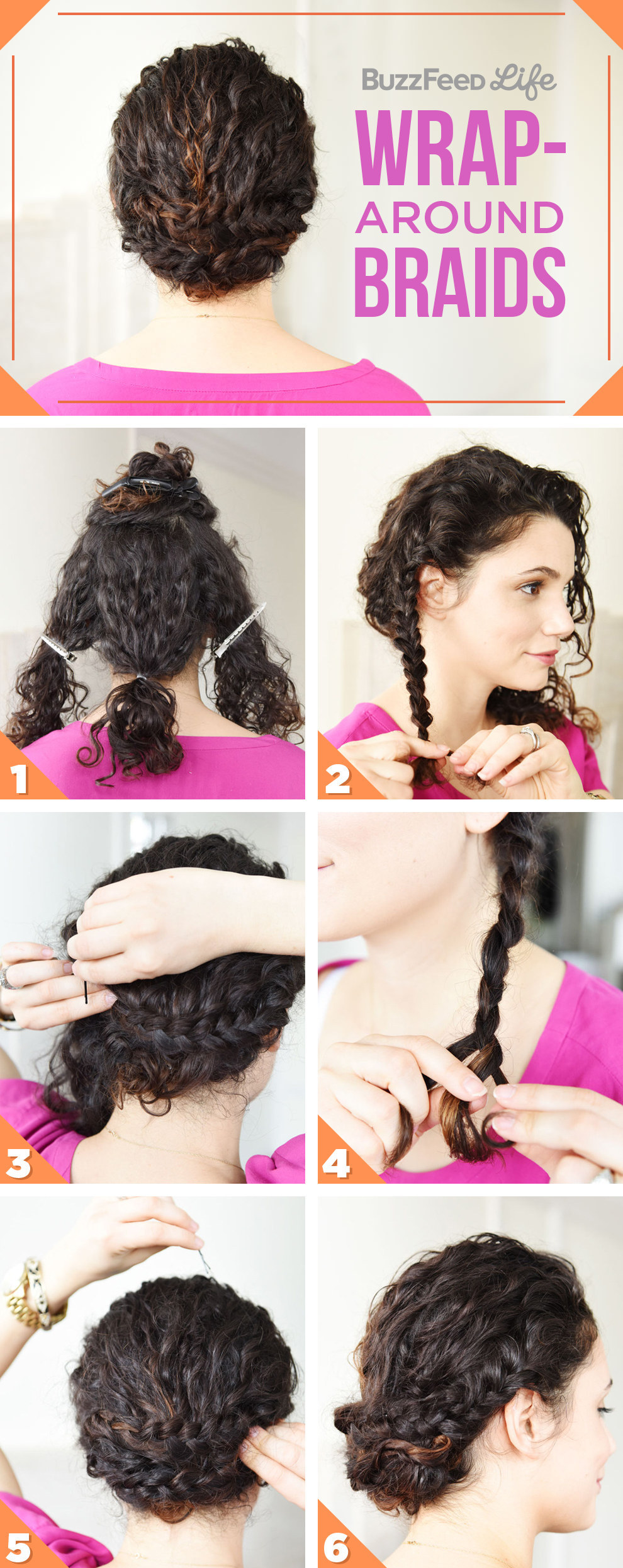 26 Incredible Hairstyles You Can Learn In 10 Steps Or Less Wrap Around Braids