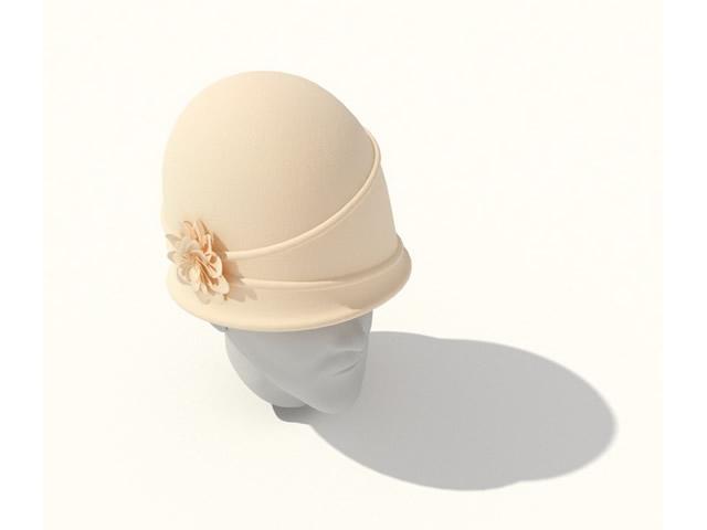 Ladies Bowler Hat 3d Model 3dsmax Files Free Download