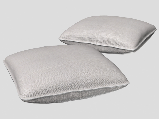 Fabric Sofa Cushion 3d Model 3ds Max 3ds Wavefront Files