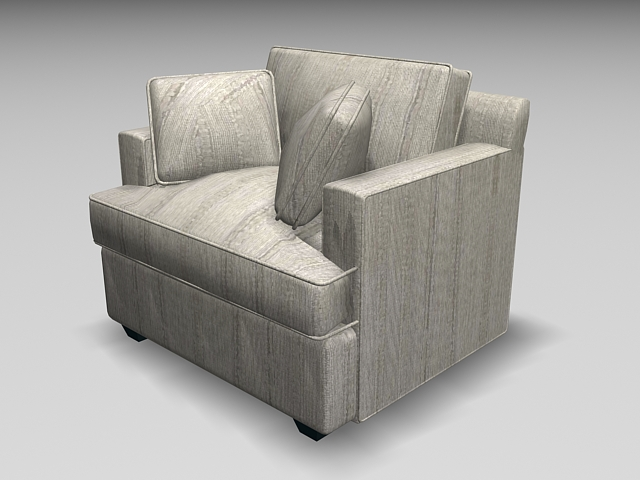 Accent Blue Chair And Ottoman