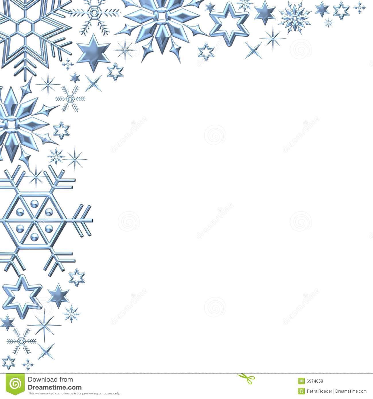 Snow Clip Let Art Borders It