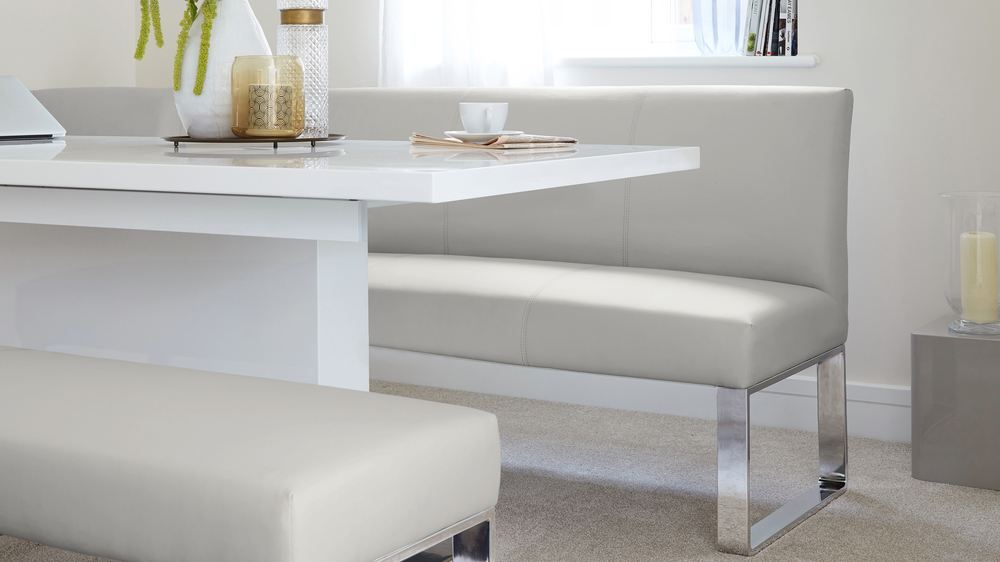 Loop 7 Seater Right Hand Upholstered Corner Dining Bench