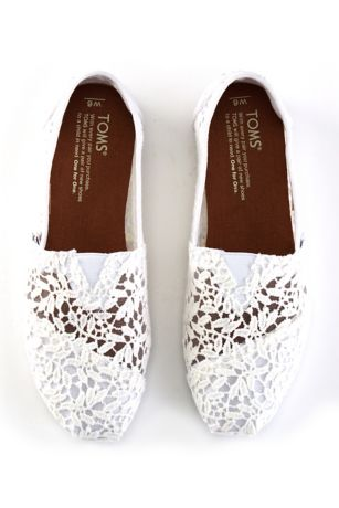 Toms Lace Leaves Classic Slip On Shoes David S Bridal