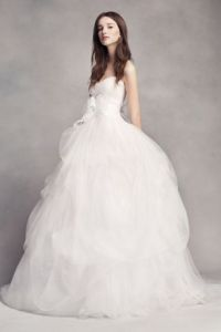 White by Vera Wang Wedding Dresses   Gowns   David s Bridal Long Ballgown Modern Chic Wedding Dress   White by Vera Wang