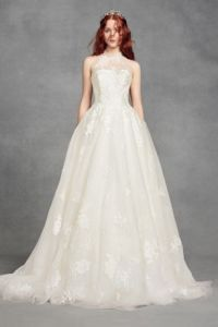 Wedding Dresses   Gowns for Your Big Day   David s Bridal Long Ballgown Romantic Wedding Dress   White by Vera Wang