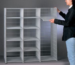 Wire mesh shelving   All industrial manufacturers   Videos workshop shelving   light duty   wire mesh   single sided