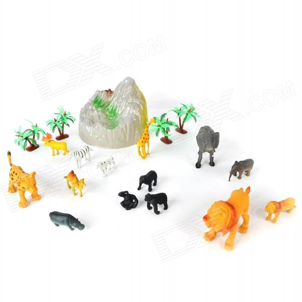 Image of: Farm Dealdx T3042 Kids Plastic Animal Zoo Toy Set Multicolored