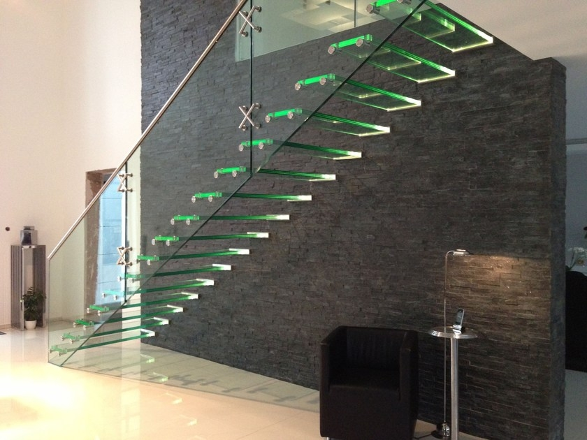 All Glass Staircase By Siller Treppen   Steel And Glass Staircase   Living   Wood   Contemporary   Old House   Glass Design Golden