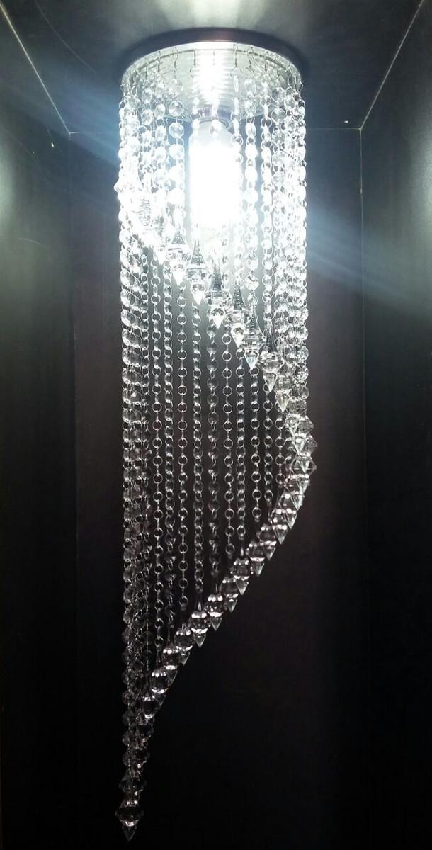 Lustre Cristal Alto Brilho Em Espiral No Elo7 Lustres Df
