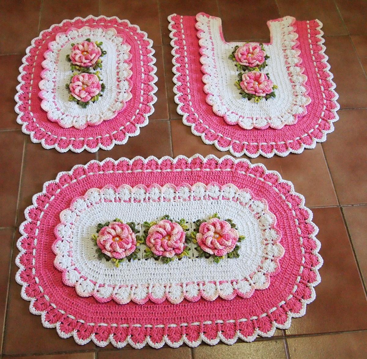 Floral Bathroom Set