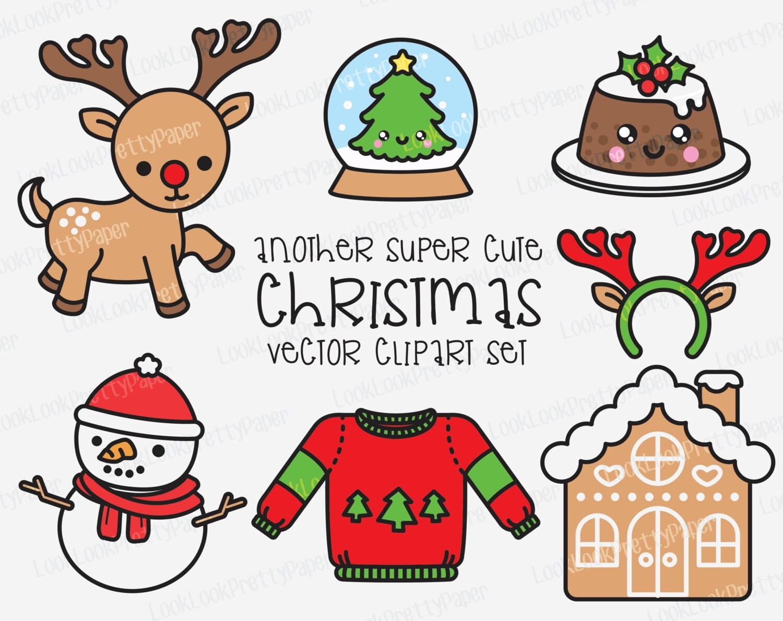 Premium Vector Clipart Kawaii Christmas Another Cute