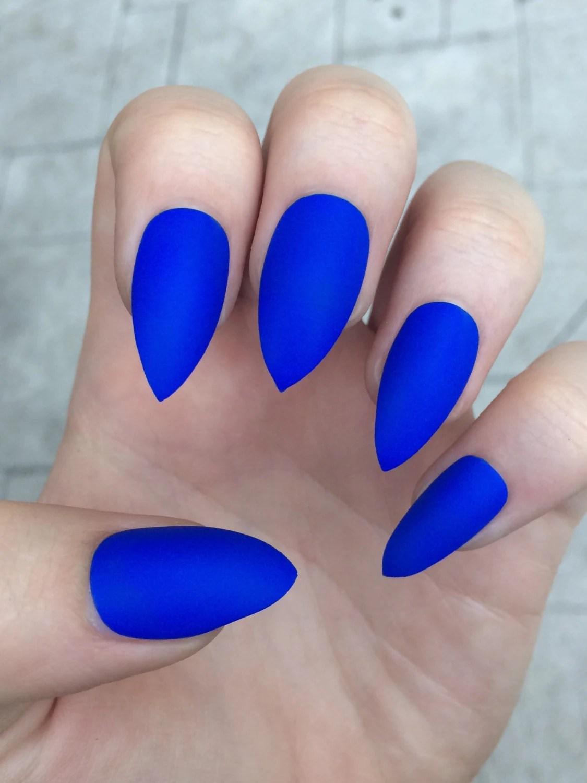 dark blue matte nails » 4K Pictures | 4K Pictures [Full HQ Wallpaper]