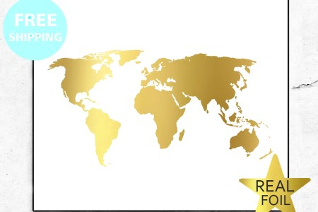 Gold foil world map path decorations pictures full path decoration world map poster gold new gold world map poster matte gold print world map poster gold new gold world map poster matte gold print world map faux gold foil gumiabroncs Images