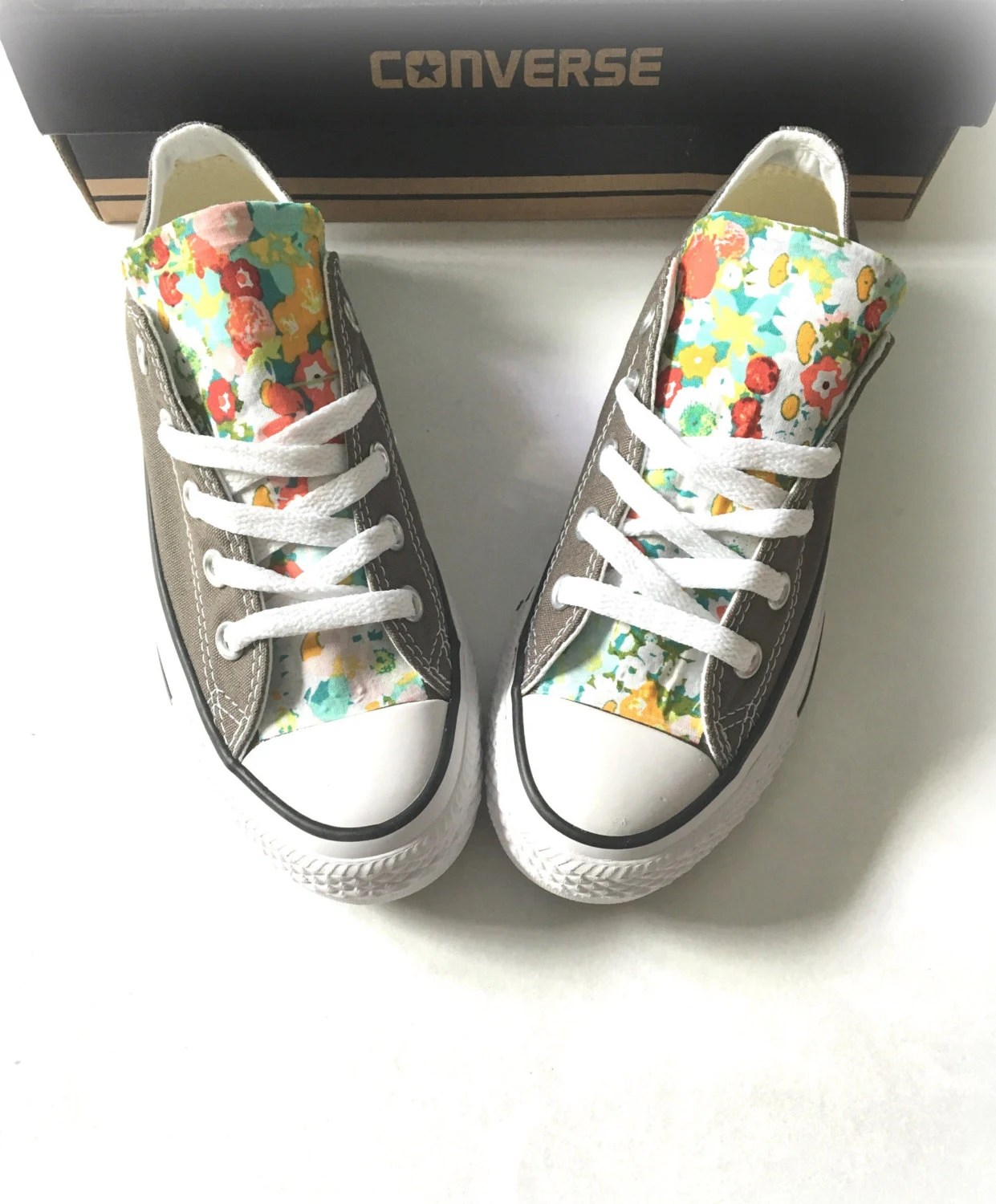 f34a302f5938 Floral Converse Shoes Floral Chuck Taylors Flower Converse
