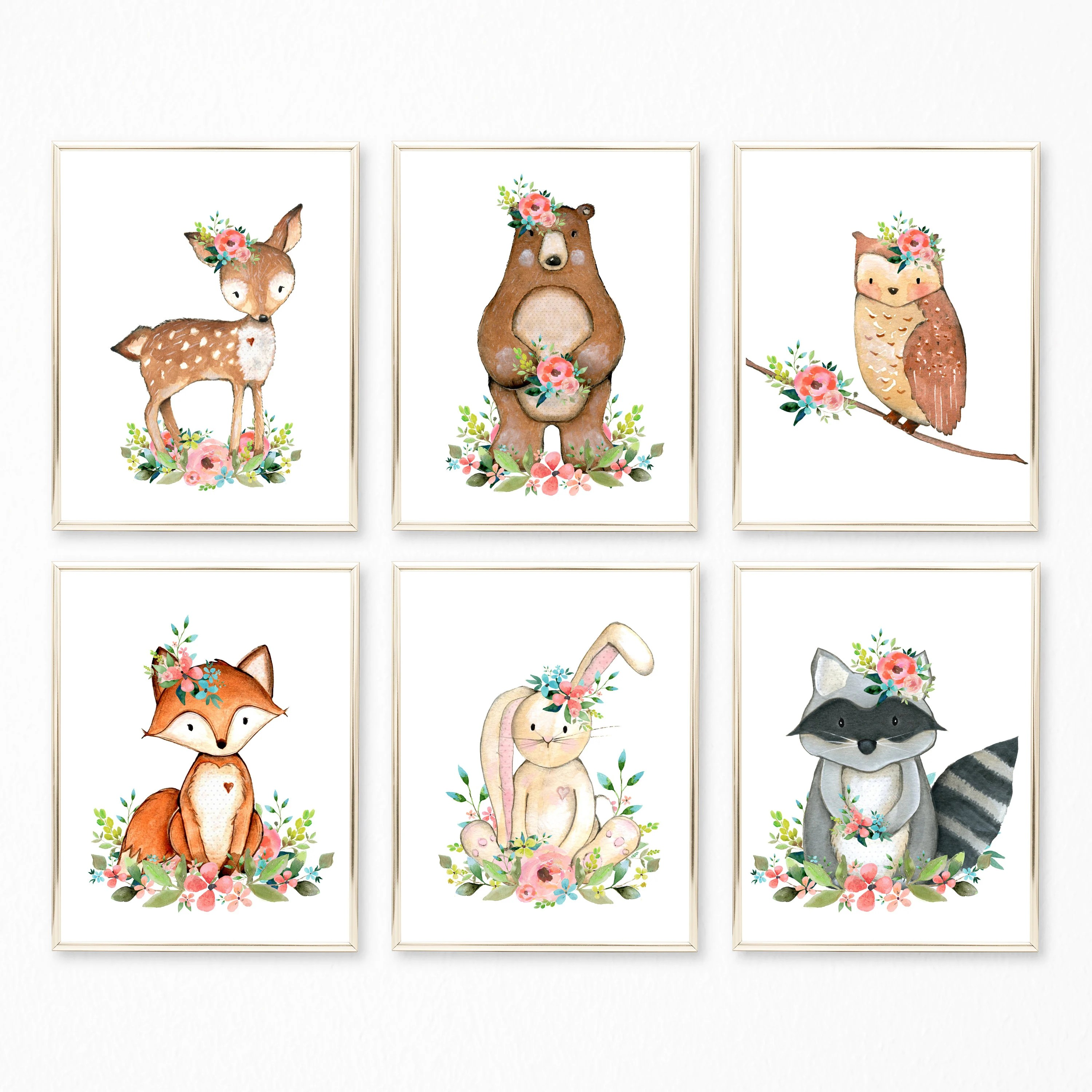 Woodland Animals Nursery Art. Woodland Nursery. Woodland