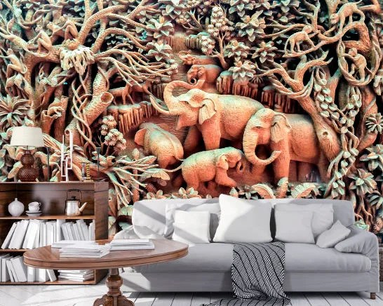 Paris View Wallpaper 3D Wall Sticker Wall decor Peel and Stick 3D Elephant Wallpaper 3D Wall Sticker Wall decor Peel and Stick Wallpaper 3D  Wall Mural Self Adhesive Exclusive Design 3D Photo Wallpaper
