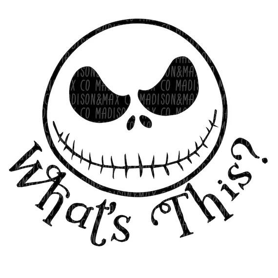Jack Skellington SVG Nightmare Before Christmas halloween