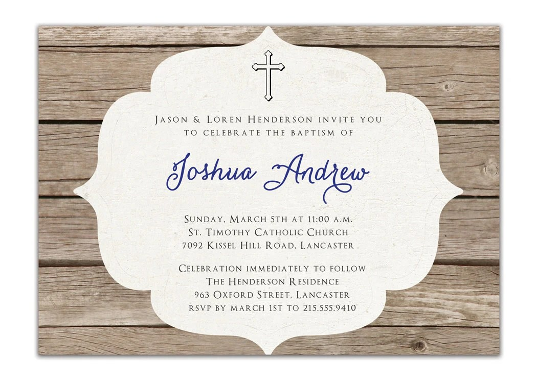 Invitations Catholic Baptism