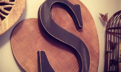 Giant Wooden Letters Wooden Thing
