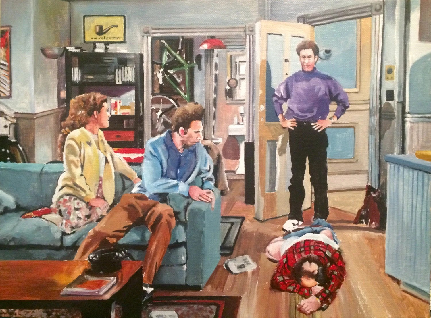 And You Want To Be My Latex Salesman Seinfeld Oil Painting