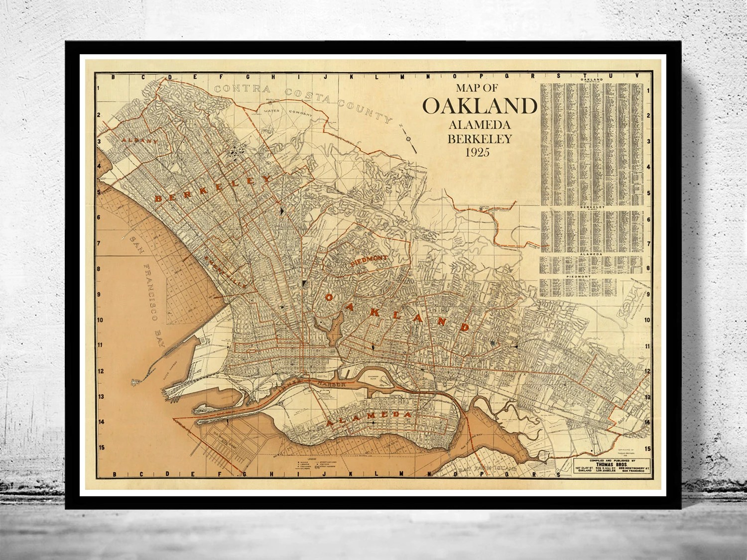 large detailed of oakland map The