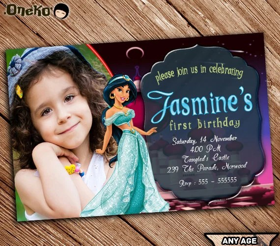 ... Princess Jasmine Birthday Invitation Card For More Cards   Download Our  New Free Templates Collection, Our Battle Tested Template Designs Are  Proven To ...