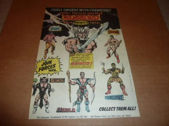 Warlord comic books   Etsy Warlord REMCO print ad CLIPPING comic advertisement