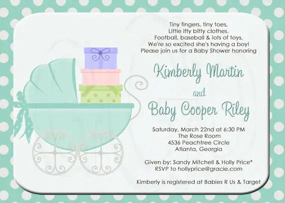 Baby Shower Invitation Wording 3rd Child