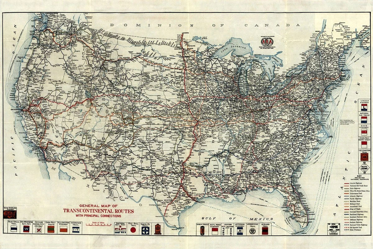 Vintage Us Road Map     road map Detailed Vintage Us Road Map 12 Asus with Vintage Us Road Map