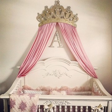 Princess Baby crib bed canopy crown wall art wakeup sweet Like this item
