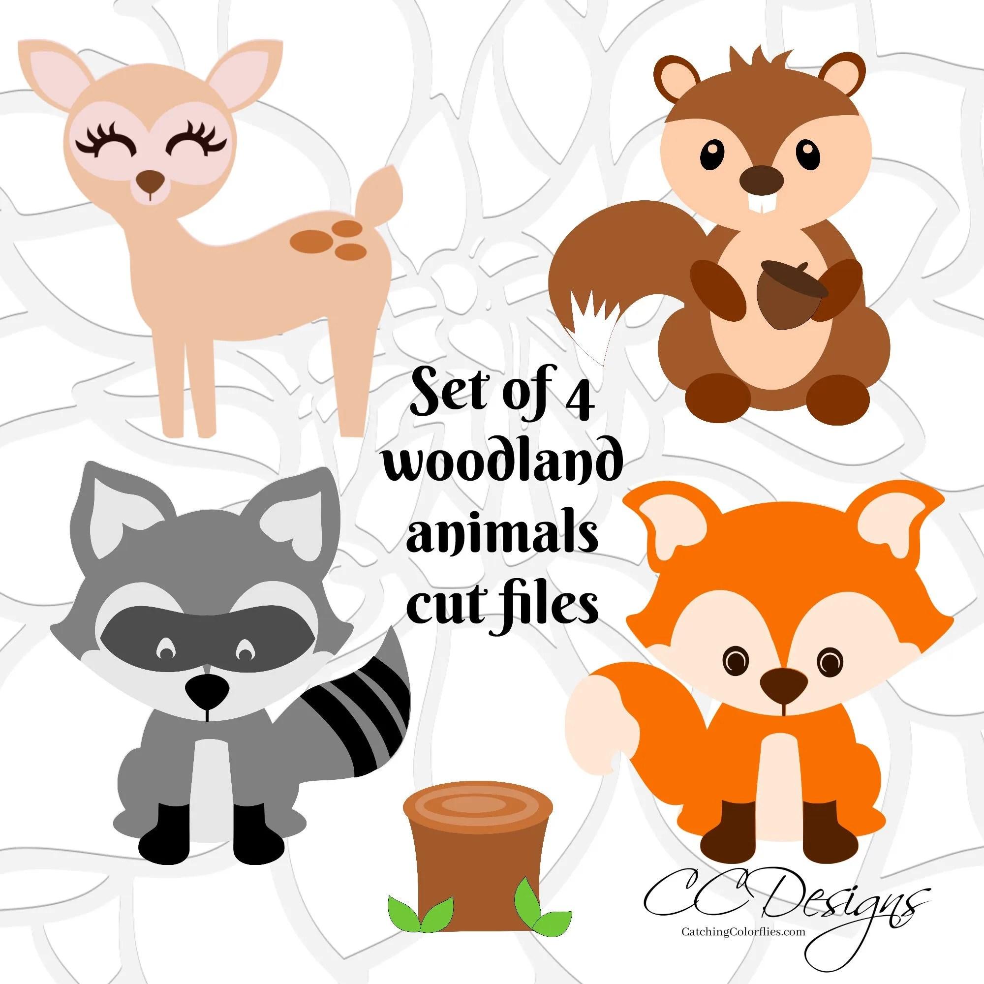 Cute Woodland Forest Animal Cut Files Fox SVG Cut File Cute