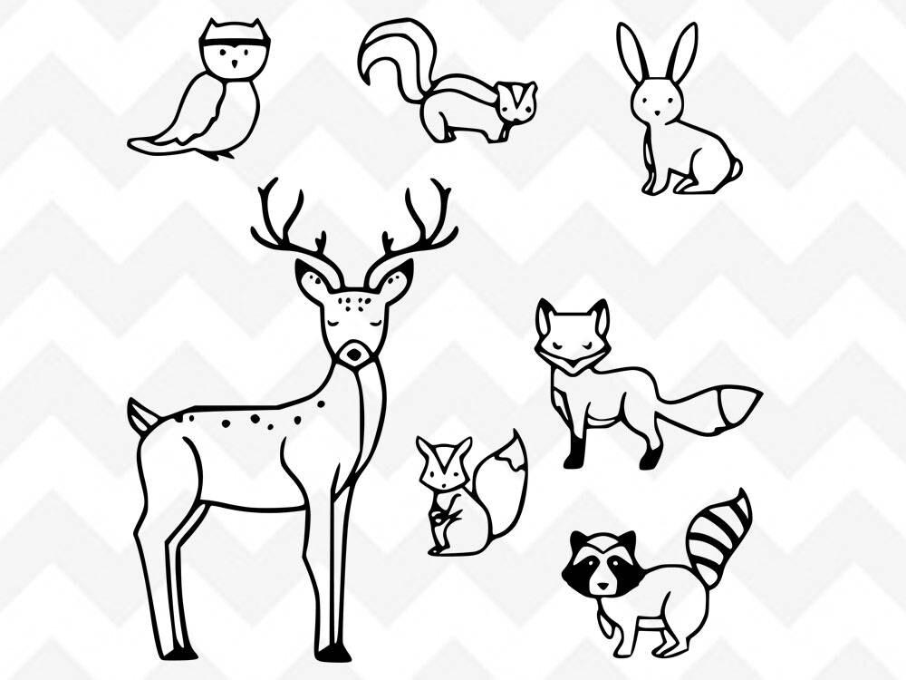 Woodland Creatures SVG Forest Animals SVG Animals Bundle