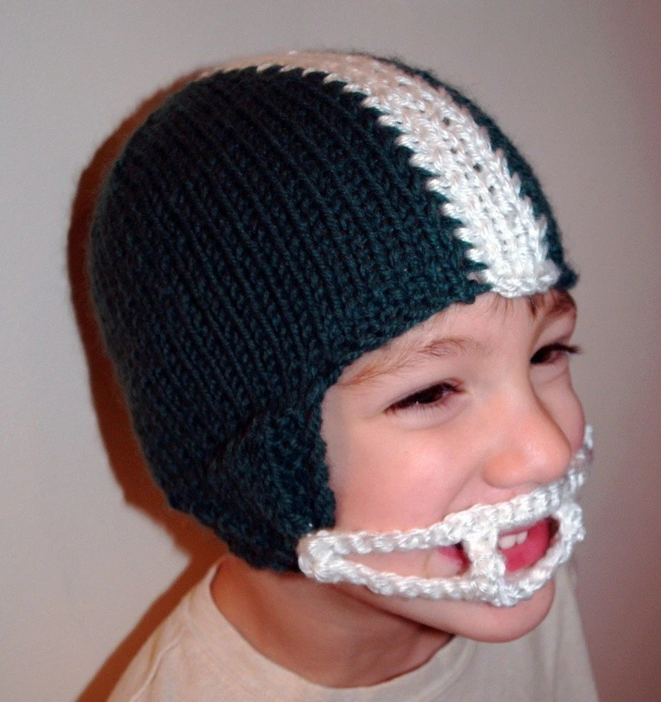 Knit Helmet Hat Pattern