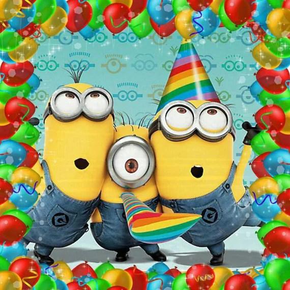 Minion Happy Birthday Card Minion Movie Instant Download